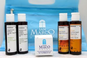 Modern, high quality amenities. These are the same amenities used in the San Marco Hotel.